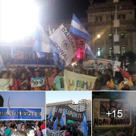 Bandera Vecinal en multitudinaria marcha Pro-Vida