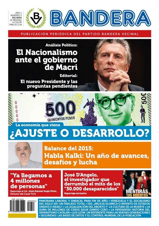 Tapa Periódico Bandera - Nro. 3 - Dic 2015
