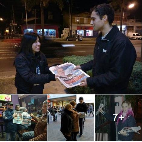 Avanza la difusión del periódico Bandera en los barrios (fotos)
