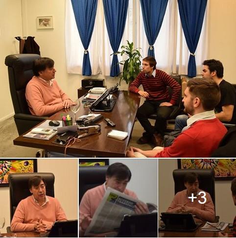 Rector de la Universidad Nacional de Avellaneda recibió a equipo del periódico Bandera